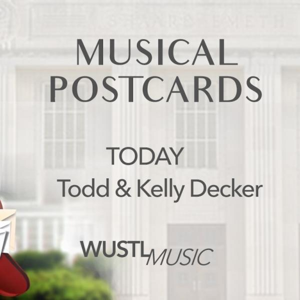 Musical Postcards launch with Todd and Kelly Decker