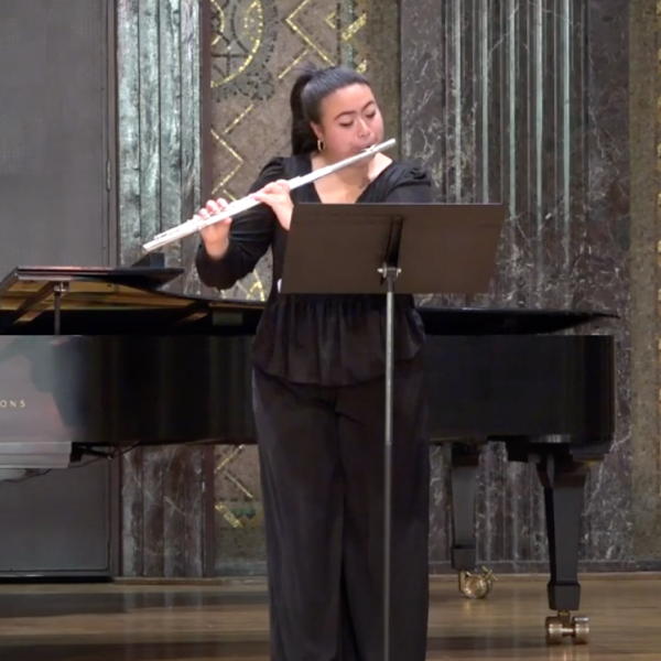 WashU flutists win first and second place in young artist competition