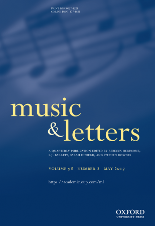 """Brahms's Non-Strophic Settings of Stanzaic Poetry"" Music & Letters 98/2"